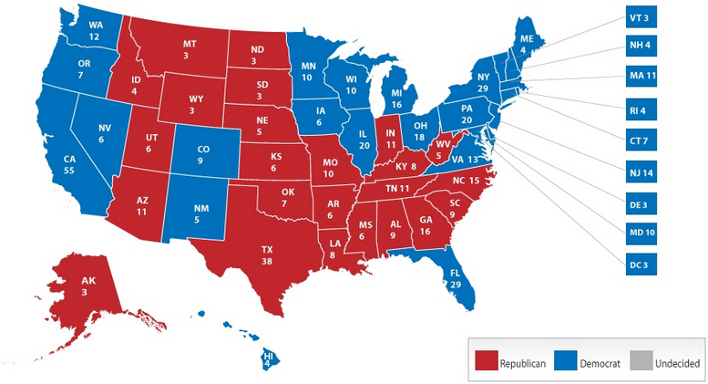 2012 US Election Results