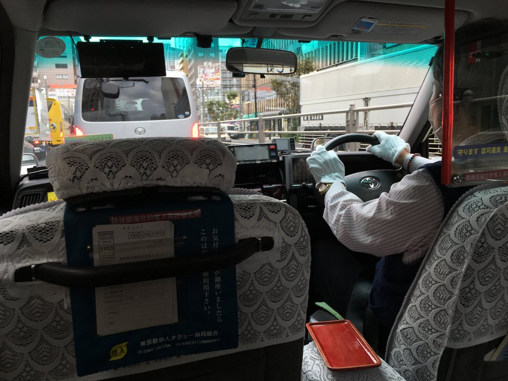 A typical Tokyo taxi.