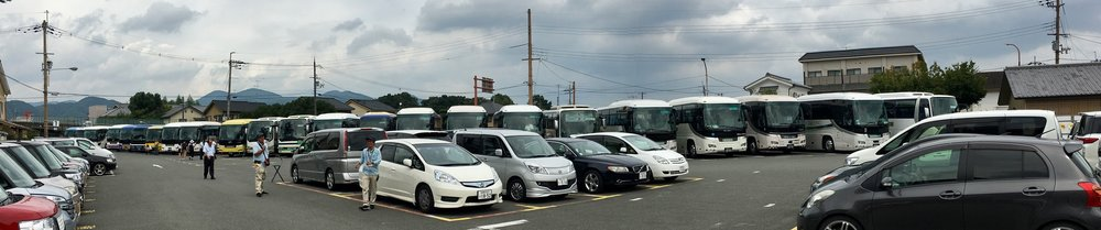 Good luck finding a parking spot in Arashayama.