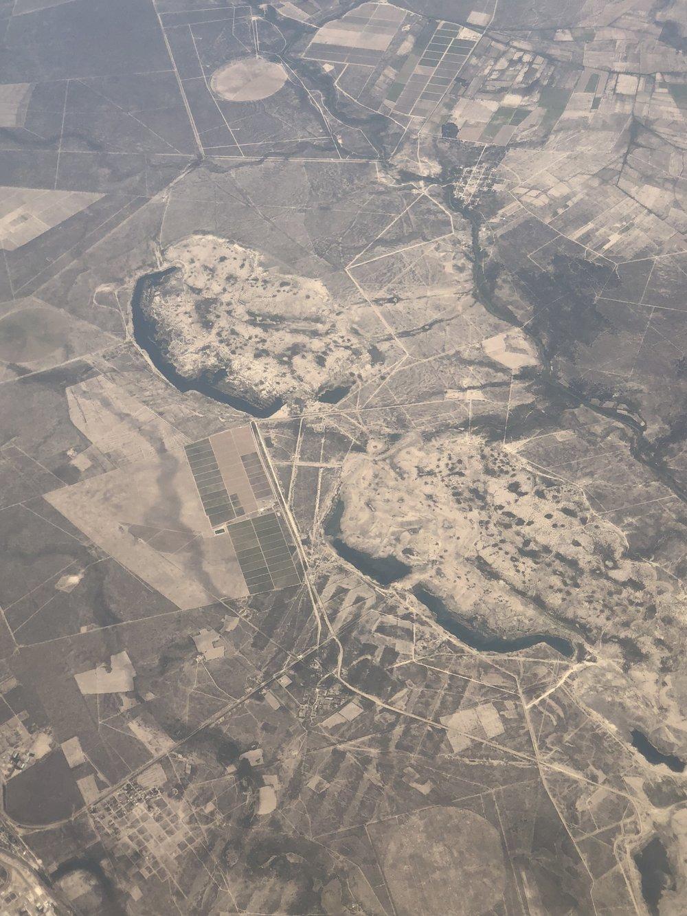 Inliers near Piedras Negras, Mexico.