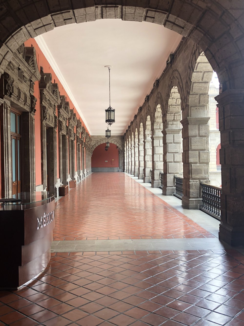 Colonnade in the National Palace.