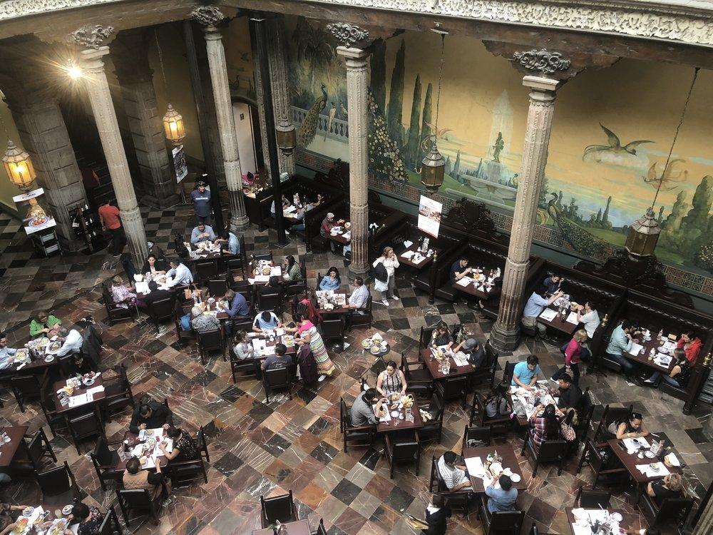 Sanborns' courtyard dining