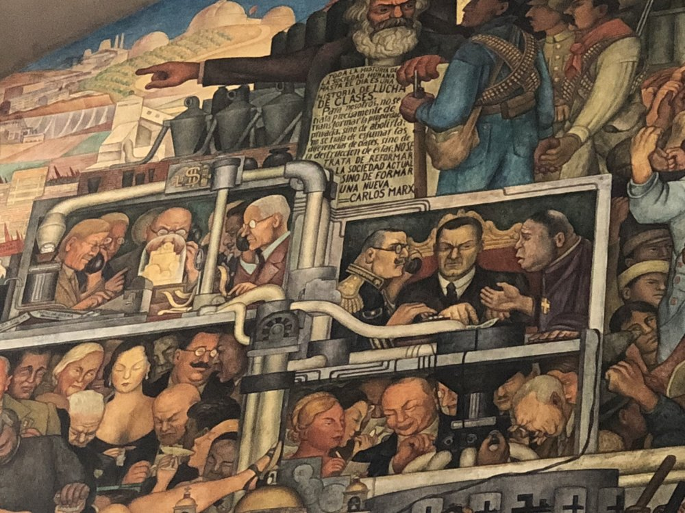 Portion of The History of México by Diego Rivera.