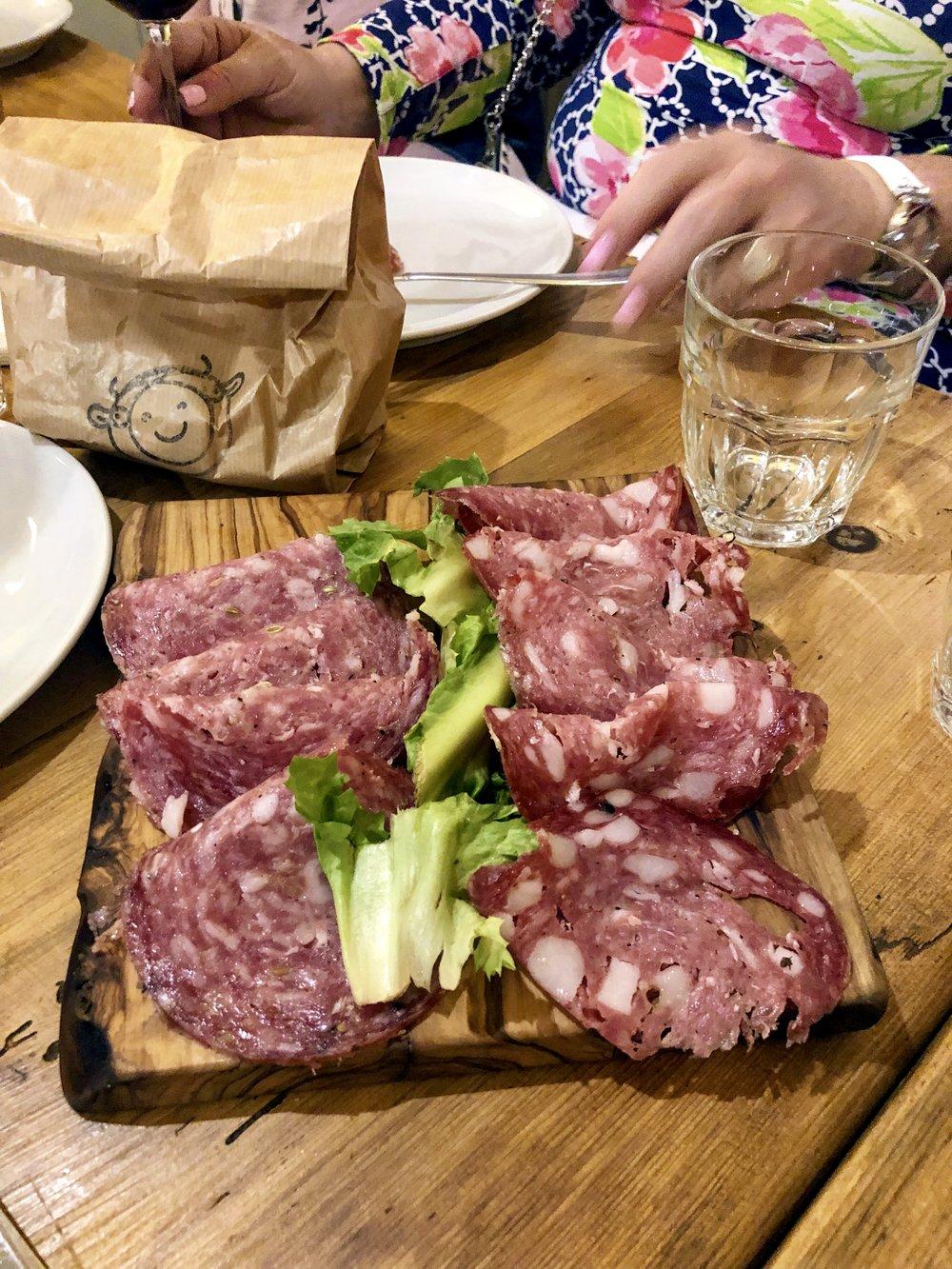 Tuscan Salumi at Osteria del Budellino