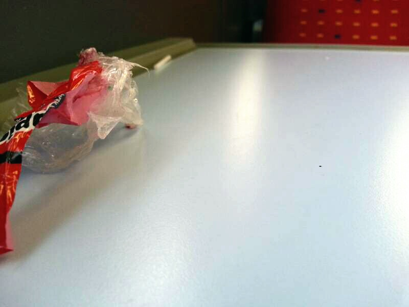 One a one carriage train, how long can it take to clean shit off some  tables?