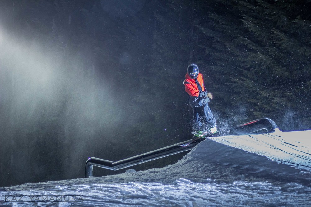 After all the hard work they put in, the Park Crew couldn't wait to hit the features