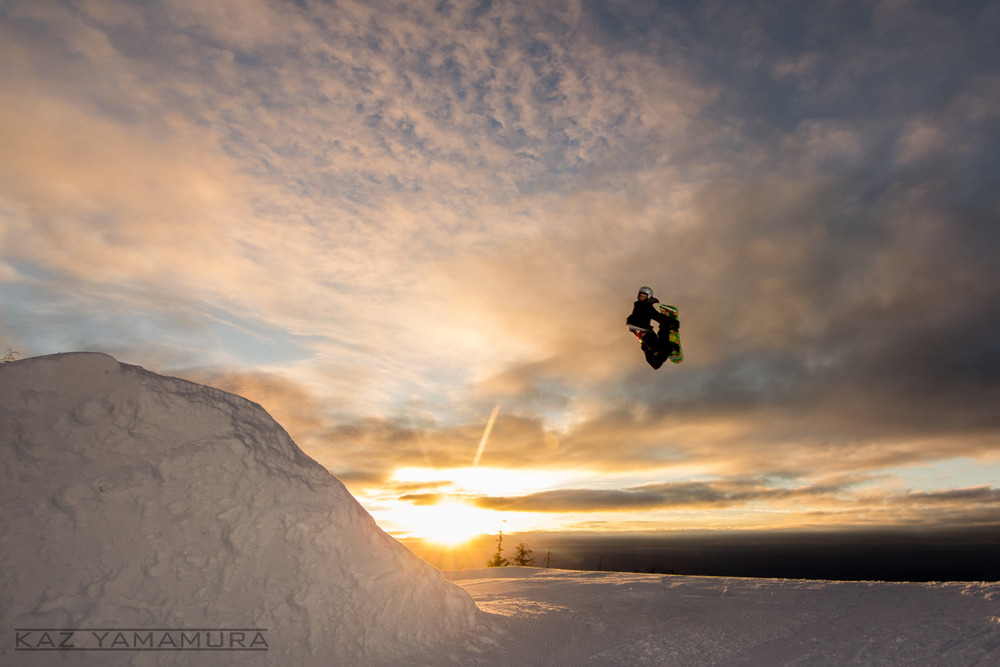 Adrian Tongko hitting the jump at sunrise