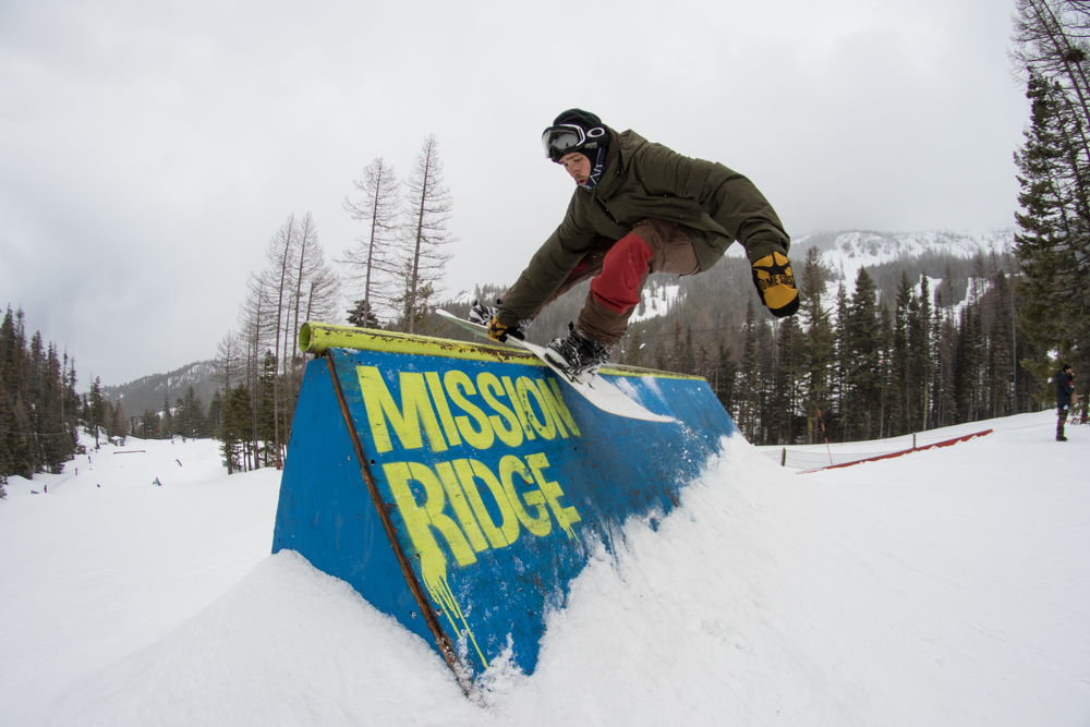 LibTech's 100Laps terrain park at MissionRidge is perfect for learning new tricks.