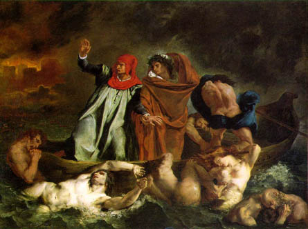 """The Barque of Dante,"" Eugene Delacroix"