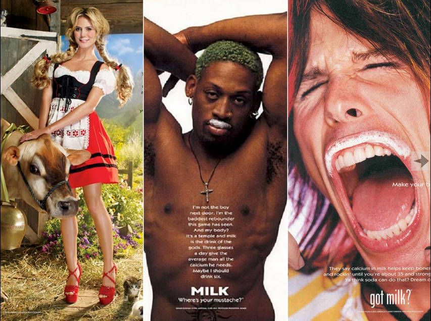"Image via The Daily Beast, which calls Got Milk? ""one of American consumerism's most effective marketing campaigns."""