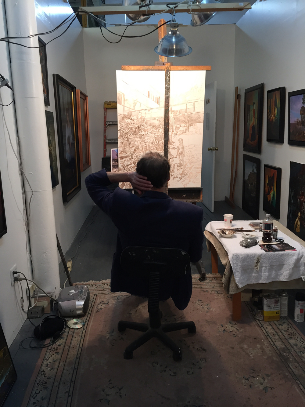 """Dice Man,"" YOHO Artists Open Studios, Yonkers, NY (May 2, 2015)"