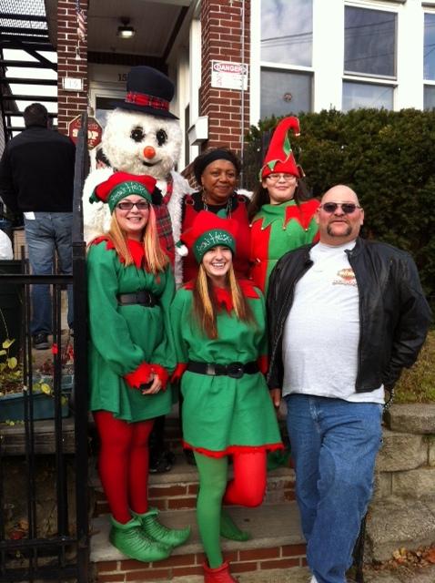 Faye Zealand and Santa's Helpers