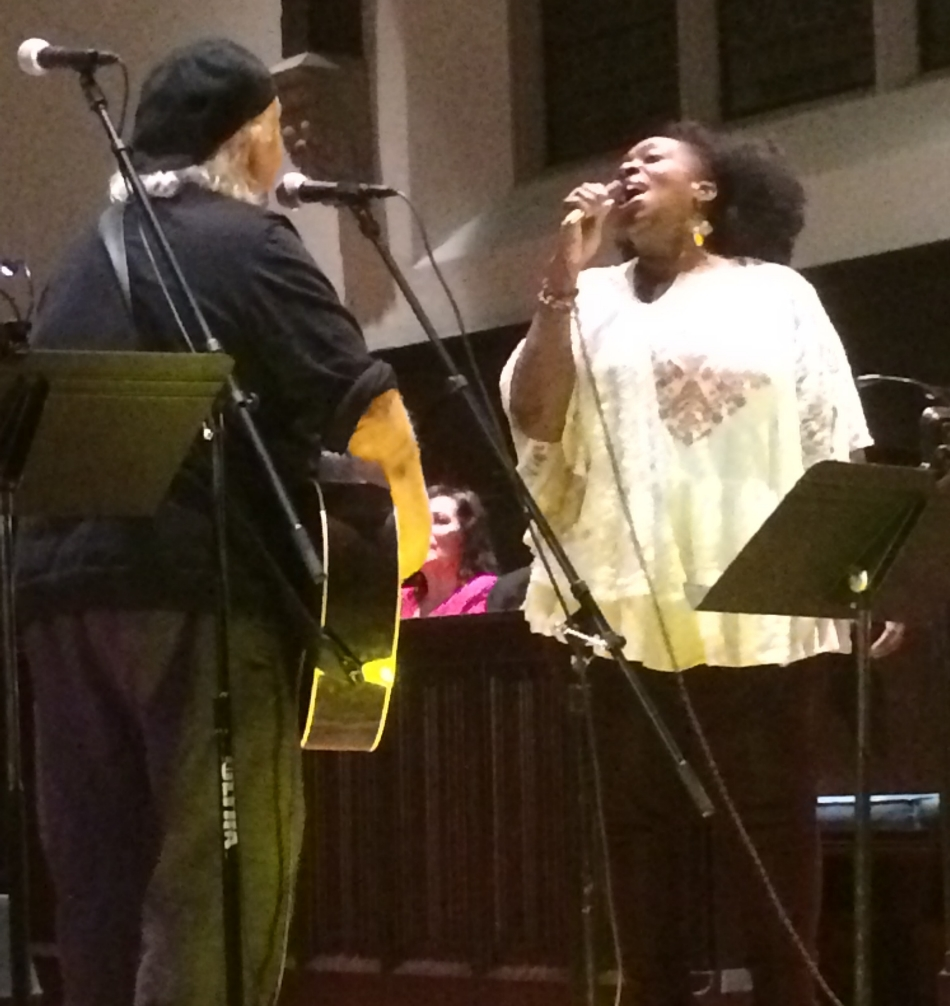 Performers Pat Guadagno and Layonne Holmes