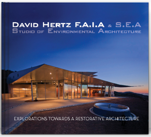 Buy our book  DAVID HERTZ F.A.I.A & S.E.A EXPLORATIONS TOWRDS A RESTORATIVE ARCHITECTURE at Blurb.com