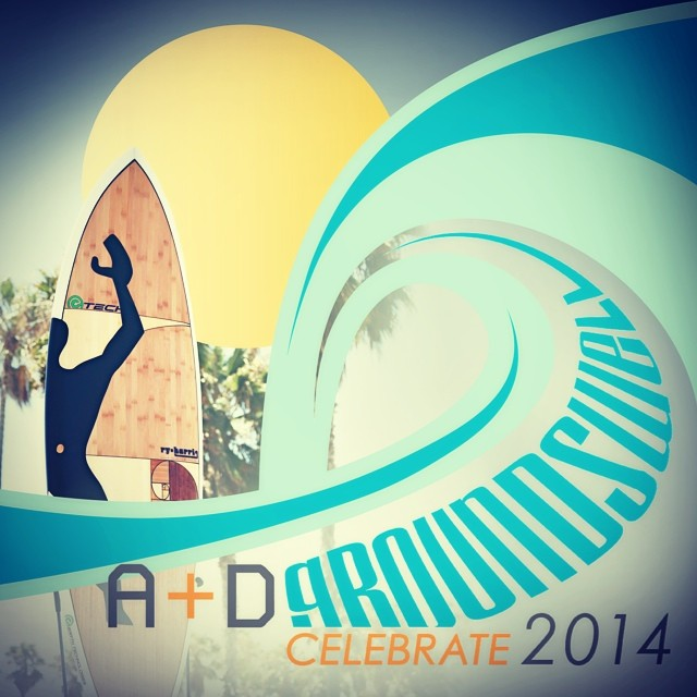 Celebrate A+D Gala is this Saturday! Looking forward to sharing and auctioning our Hertz designed custom surfboard! Get your tickets at aplusd.org/celebrate2014 #celebrategroundswell #celebrateaplusd #sustainablesurf #recycledbamboo #customboard #davidhertz #architectureanddesign #ecofriendly #lecorbusier #modularman #goldenmeans #spiralhelix