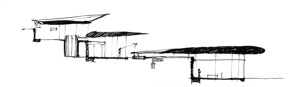 747 Wing House Concept Sketch