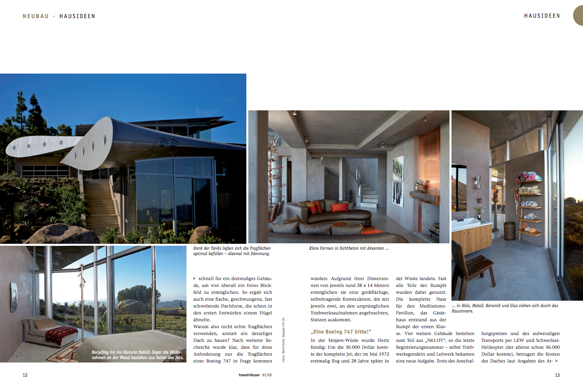 747 Wing House featured in Traumhäuser (\