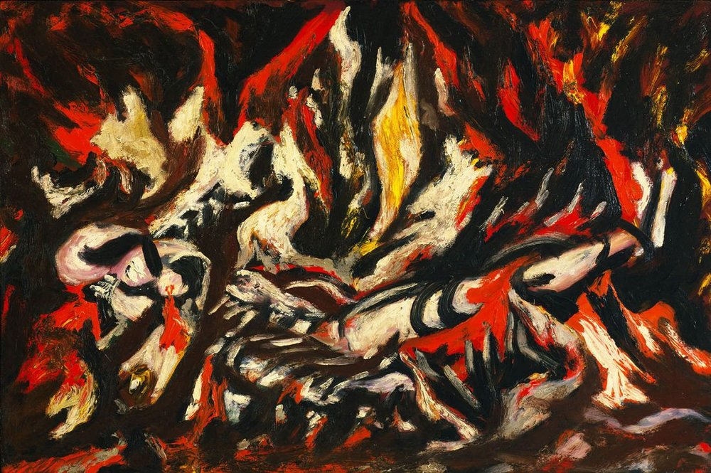 The Flame, 1938 by Jackson Pollock