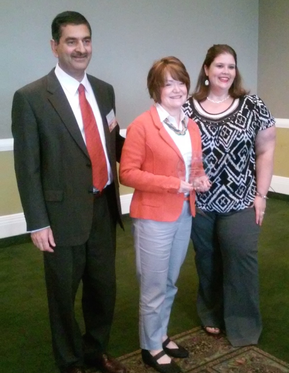 Cathy Kumor with Dr. Safdar Chaudhary and Crystal Longanecker