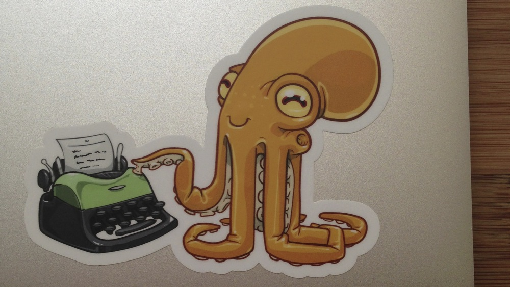 My Octopress sticker. The site generator powering The Daily Portal is derived from Octopress.