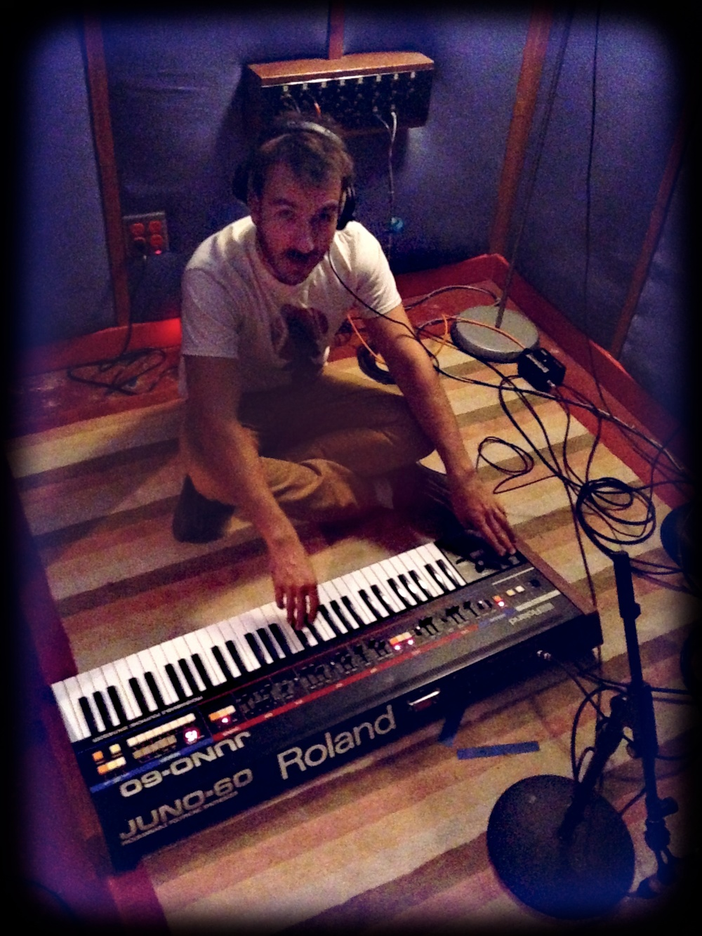 Kirk playing a synth he couldn't hear.