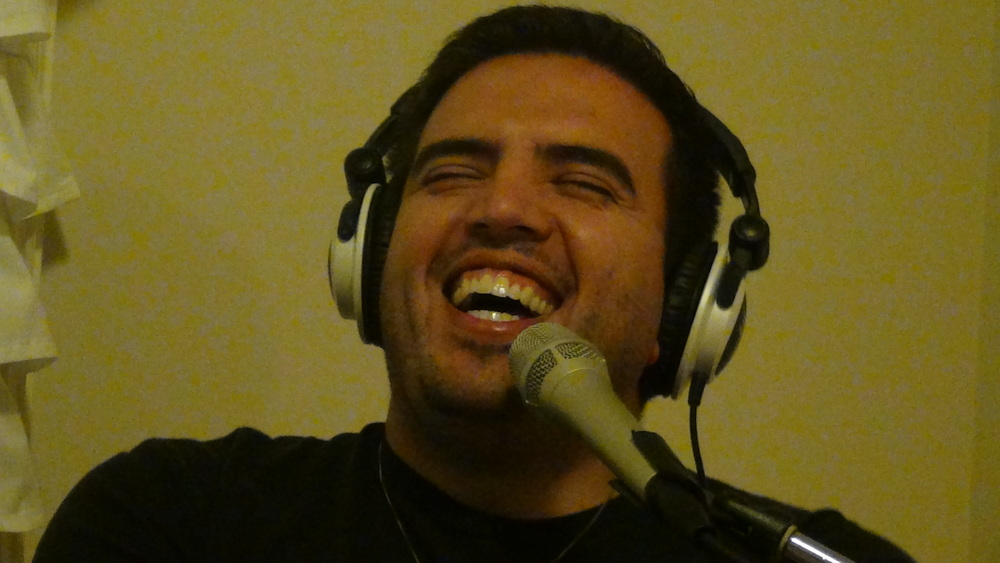 Humberto podcasting in South Lake Union, Seattle (2012)