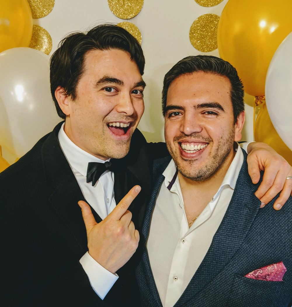 Dr Kirk Honda and Humberto at an Oscar Party (2018)