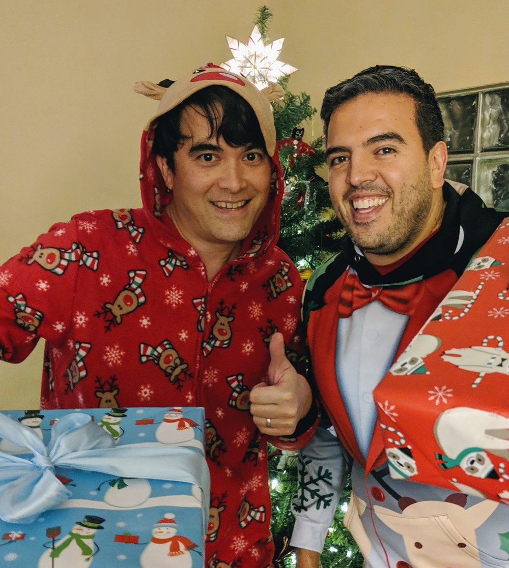 Dr Kirk Honda and Humberto at Christmas (2018)