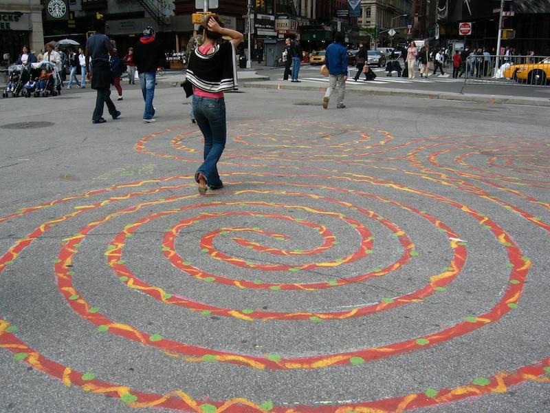 triple spiral maze