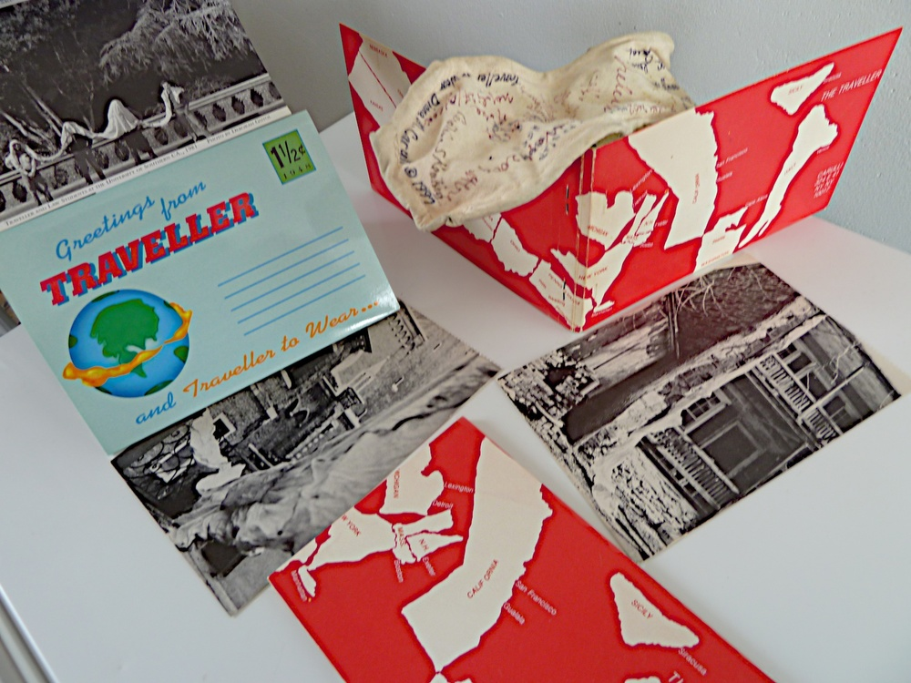 Traveller and Traveller TO Wear booklets with sculpture