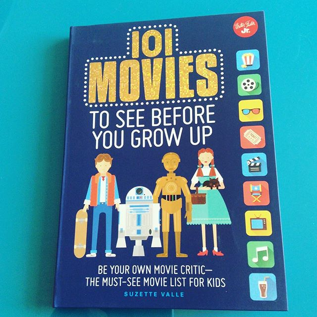 101 Movies To See Before You Grow Up from @quartokids and @walterfoster - even better than I'd hoped.  Charming illustrations, a great movie list, starts at age 8 and goes from there.