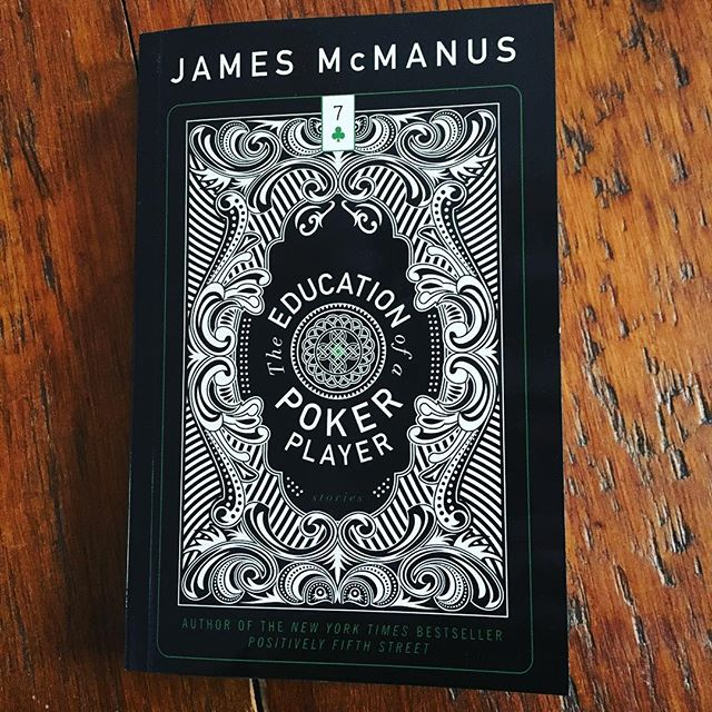 Sunday reading: James McManus' new story collection, The Education of a Poker Player from @boaeditions & #consortiumbooks. He'll be at #hff15 next weekend.