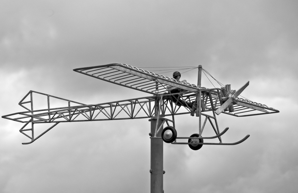 Plane Sculpture in Filey Yorkshire