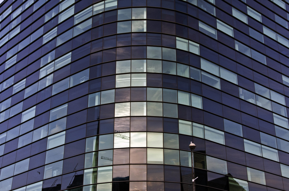 Glass Pattern on offices at the Quays