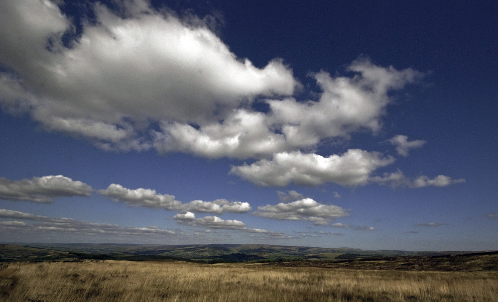 Skyline over Peak District National Park