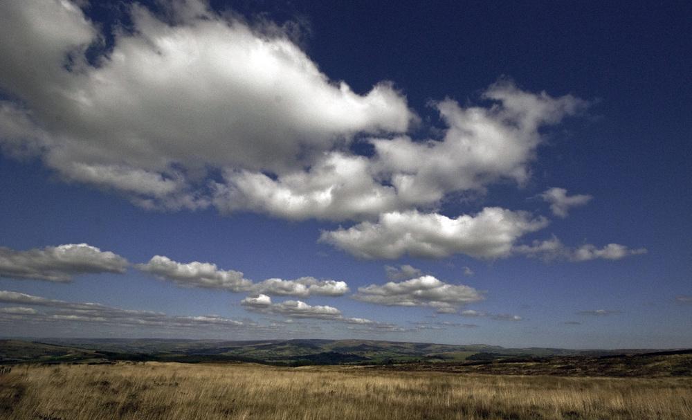Skyline over Peak District National Park