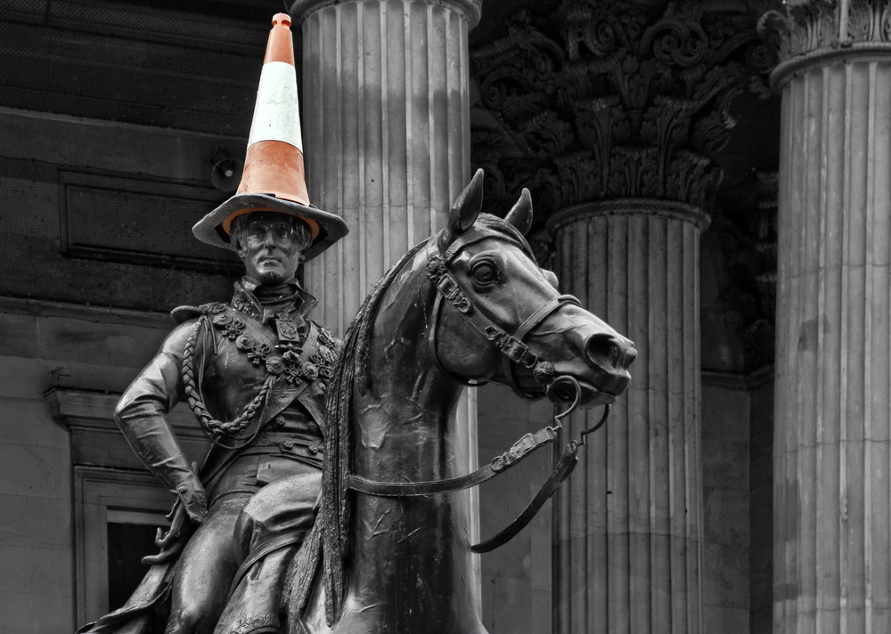 Duke of Wellington Statue with Traffic Cone, Glasgow
