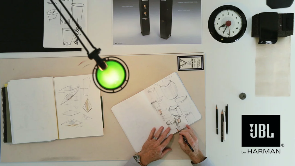 Daniel Ashcraft Sketching Speaker Design