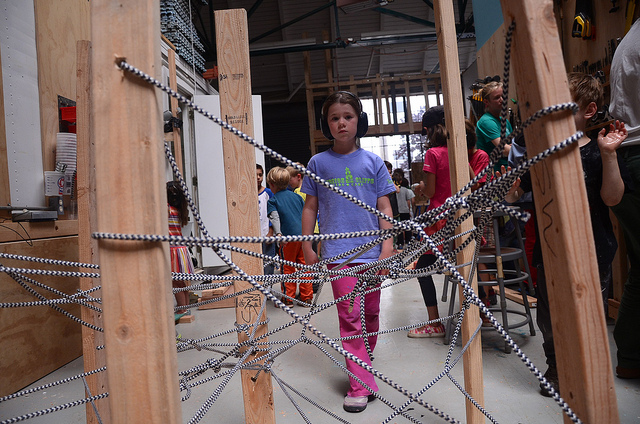 Marina is concerned after a test-crawl through the rope tangle obstacle--how can we make it tougher?.