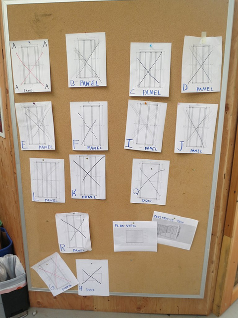 All the panels are built! Thirty-two kids framed a 192 ft. sq. shed in less than three days. For many, this is the first time using real tools.