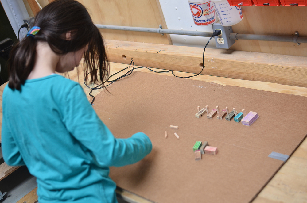 Side projects are flourishing as confidence grows and kids get an understanding of the shop.