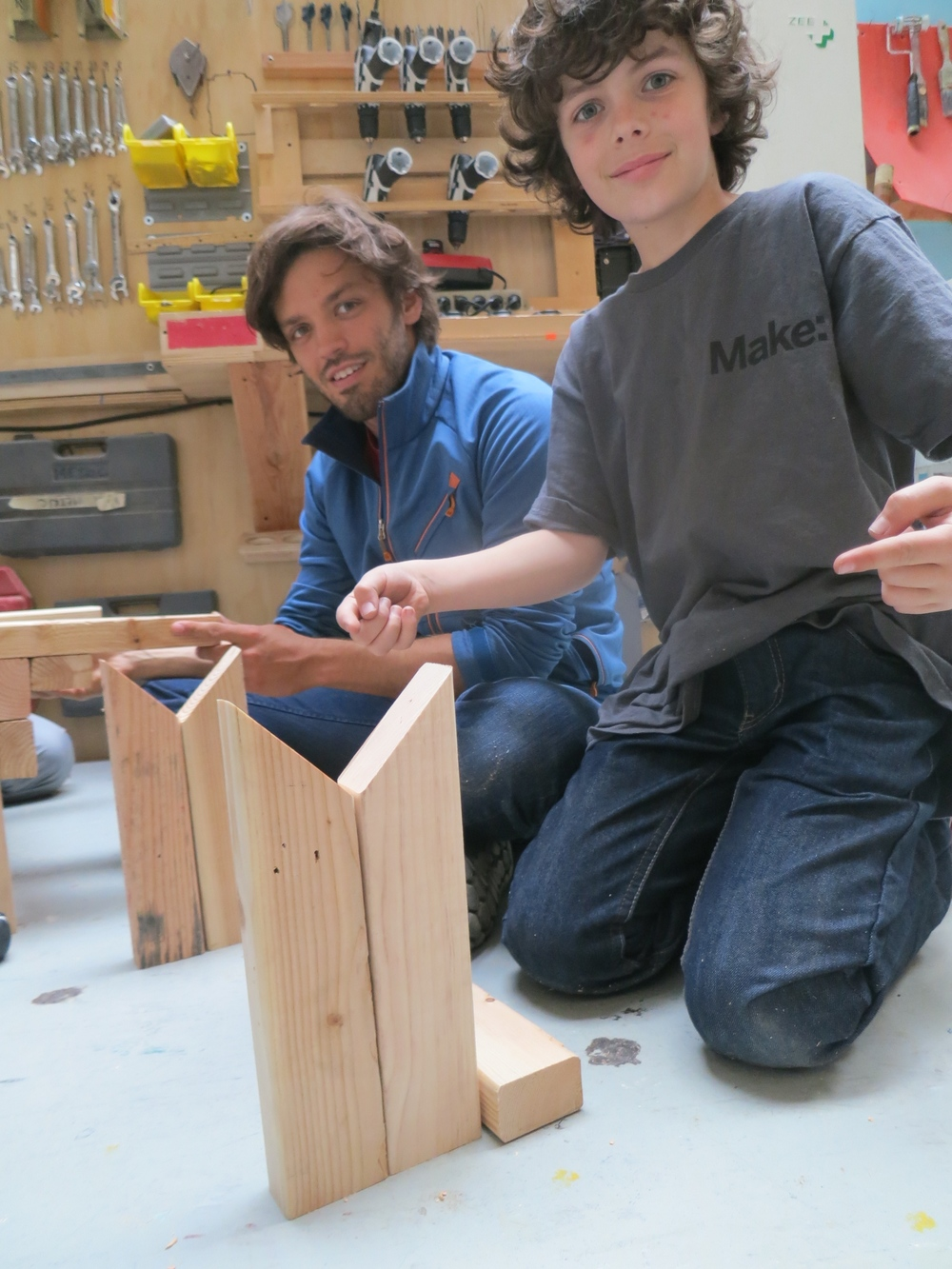 Elijah shows off his precise miters.