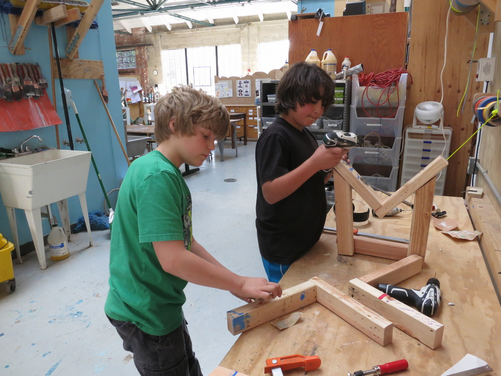 Travis and Gio tried three different styles of leg assembly before settling on the one that was sufficiently strong and easy to produce.