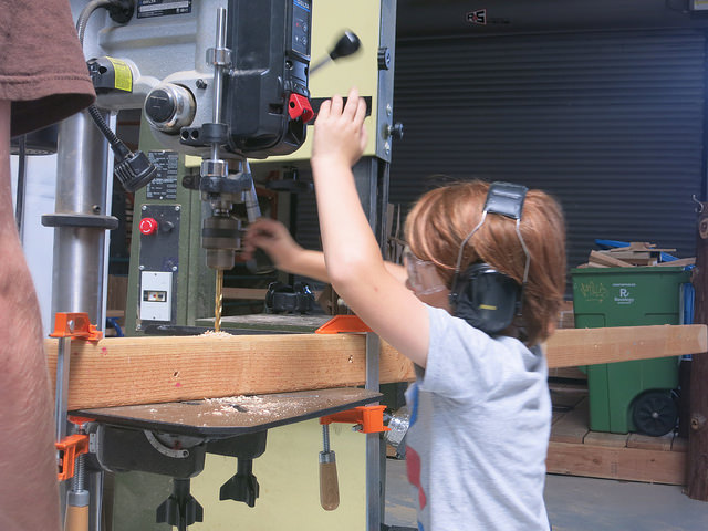 Siva masters the drill press!