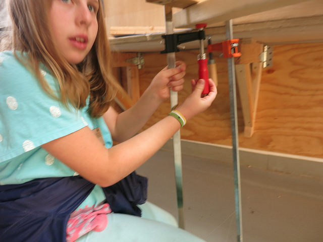 """Audrey demonstrates the """"twisty"""" clamp!"""