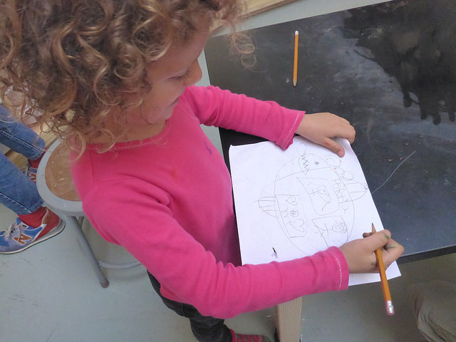"Portia puts some ""personal"" touches on her submarine design. Namely, her name."