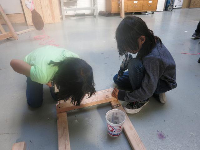 Mackenzie and Mason create the Conveyor Belt base
