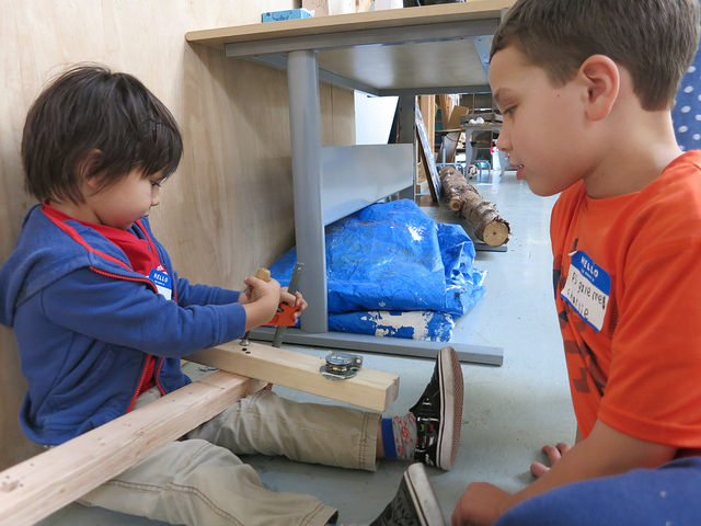 Ike and Charlie make the pulley system to release the Cran Death Sled.
