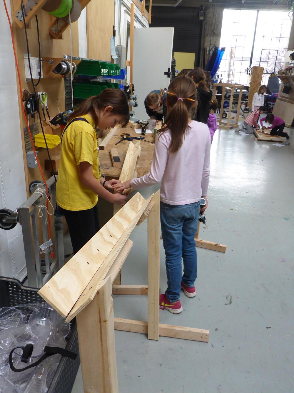 The egg transporter team already has 2 ramps built!!