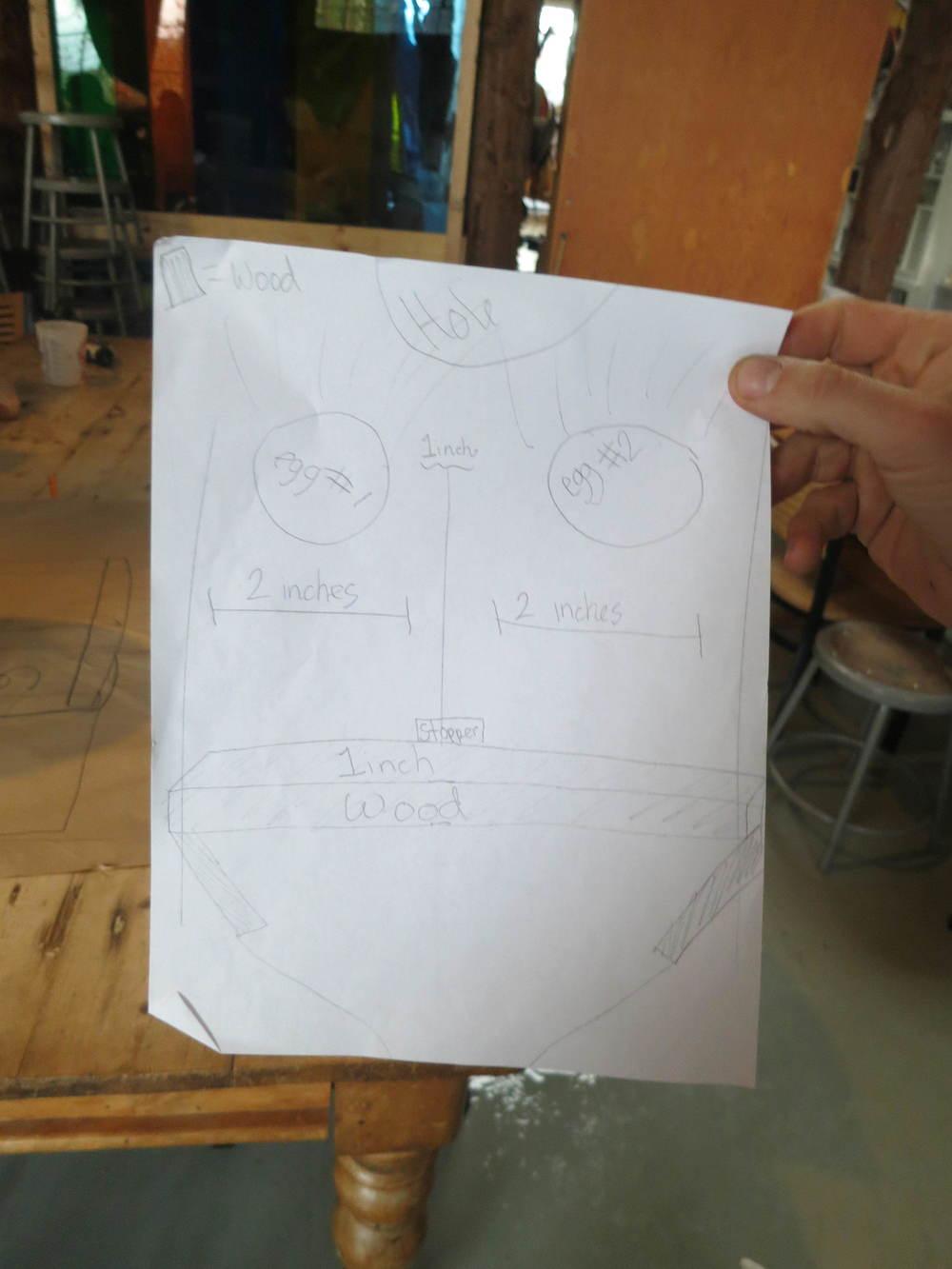 Egg regulator design by Hannah and Sophia.